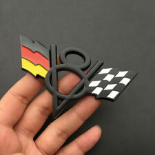 V8 Germany DE Flag Black Chrome Metal Rear Trunk Emblem Badge For Volkswagen Car