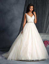 936 ALFRED ANGELO COLLECTION 2572 SZ 14 LT $2037 GOLD SILVER   WEDDING DRESS