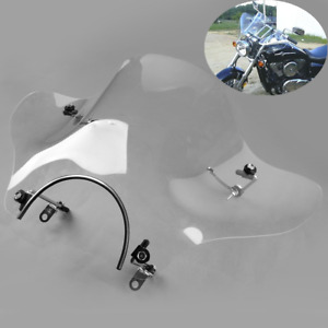 "7/8"" Clear Windshield Fit For Cruisers Honda Shadow Spirit Aero Rebel Deluxe VLX"