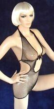 sexy Marken Netz Kleid, Gothic Minikleid, Schwarz, NEU, Fishnet Dress, Gr. S M