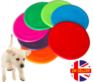 Soft Silicone Thin Flying Disc / Flexible Rubber Fetch Frisbee - Small Dog Puppy