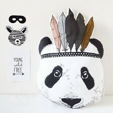 Cute Indian Panda Cushion Kid Animal Pillow Baby Stuffed Toys Home Decor Gift