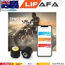 Motorbike Wireless TPMS Tyre Pressure Monitor System APP Display For iOS Android