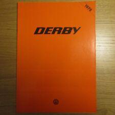 VW VOLKSWAGEN DERBY LS UK Market Sales Brochure 1978
