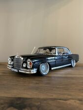 Norev 1:18 1969 Mercedes 280 SE Coupe - Black Slammed Custom Tuning Modified