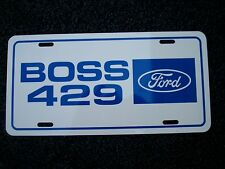 FORD BOSS 429 Aluminum license plate tag 1969 Mustang 1970  racing team 69 70