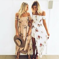 Women Summer Boho Floral Long Maxi Evening Cocktail Party Beach Dress Sundress