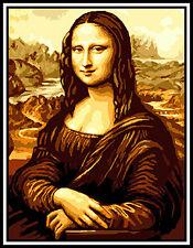 Gobelin - Stickbild  - Mona Lisa - 38x50 cm Handarbeit  - Ohne Garn!