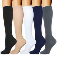 One Pair Men Women's Compression Sock Pain Relief Leg Calf Foot Stocking U0O9