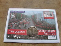 2003 Bahamas coin cover, $1 Virgin Islands - Queen's Coronation Jubilee - v2