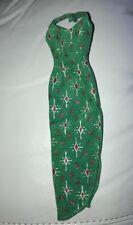Barbie Christmas Dress Green Red Halter Silver Diamond Sparkles Holiday Ori