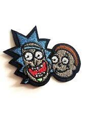 Rick and Morty Embroidered Iron On Patch Appliqué