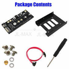 1 SET NGFF M.2 KEY B SSD to SATA3 Adapter with 3.5 HDD Cage