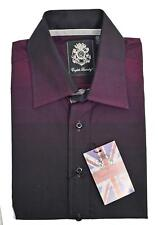 NEW Mens ENGLISH LAUNDRY Ombre Sport Shirt Long Sleeve Button PLUM Purple LARGE