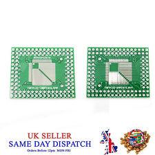 PCB QFP TQFP LQFP FQFP 32 44 64 80 100 Pin to DIP Adapter Board Converter
