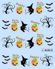 Nail art stickers décalcomanie: Halloween citrouilles chauve souris sorcières