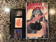 Drive In Massacre Vhs! 1976 Slasher! (see) The Texas Chainsaw Massacre