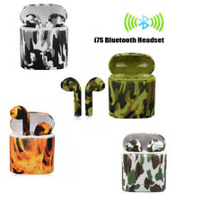 AURICOLARI WIRELESS CUFFIE SPORT i7S TWS BLUETOOTH CAMOUFLAGE ANDROID IPHONE
