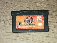 Jurassic Park III Park Builder Nintendo Game Boy Advance GBA Tested Authentic