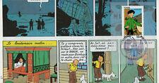 TCH07-4 Pli 100 ans Hergé, Tintin et Tchang, Guebwiller
