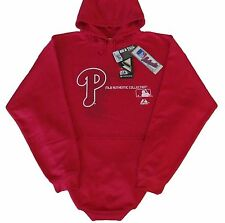 Philadelphia Phillies MLB Majestic Authentic Pullover Hoodie Big & Tall Sizes