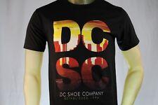 """DC SHOES MEN'S GRAPHIC BLACK T-SHIRT W/ """"DC"""" """"SC"""" / SUNRISE / CITY size Small"""