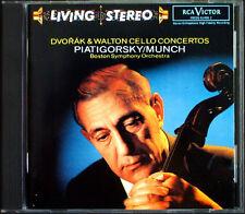 Gregor PIATIGORSKY: DVORAK & WALTON Cello Concerto MUNCH RCA Living Stereo CD