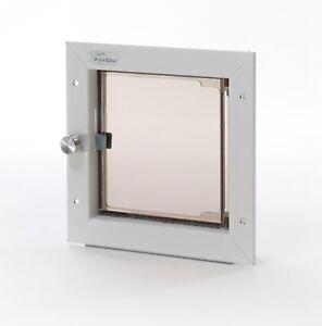 Plexidor Premium DOOR Mounted White Pet Doors in 4 Sizes