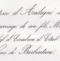 Henri Léon D'Andigné 1861 Noëmie Robin De Barbentane