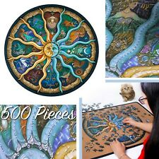 500 Pieces DIY Round Jigsaw Puzzle Zodiac Horoscope Toys Collection For Home