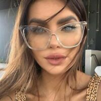 Women Oversized Cat Eye Glasses Clear Lense Hot Fashion Eyewear Eyeglasses UK