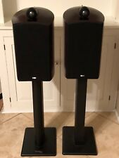 B&W Bower Wilkins Nautilus 805 Bookshelf Speakers Pair Cherry Wood with Stands