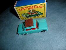 NM to MINT C9.5 Matchbox #56 FIAT 1500  SEA GREEN Dark Brown luggage & NM Box