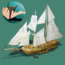 DIY Scale 1:130 Handmade Nautical Wooden Sailboat Ship Kit Model Home Decor Gift