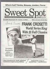 Frank Crosetti cover Sweet Spot Magazine for Autographs & Collectibles