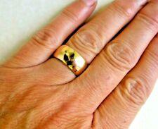 Vintage 9 Carat Gold Broad Wedding Ring Size O