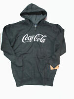 Coca-Cola Charcoal Full-Zip Hoodie White Script Logo Hooded Sweatshirt XL XLarge
