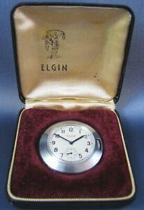 Vintage Elgin  Unusual Stainless Steel 8/0 Pendant Pocket Watch 526 7J 1937