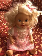 2011 Mattel Baby Alive Talking Interactive Me Sick' Baby Doll