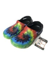 Crocs Tie Die Model 204044 NWT Mules Shoes Men's Size 7 Women's Size 9 RARE!