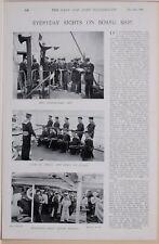 1896 BOER WAR ERA ON BOARD SHIP SAILORS SIGNALLER'S ART SMALL ARM DRILL