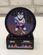 2016 Iihf World Championship Russia souvenir hockey puck with gift holder.