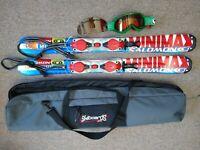Salomon Mini Max Spaceframe Snowblades Mini Skis L99.9 Comes with Bag Goggles
