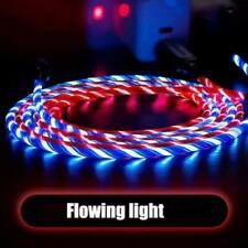 LED Light flowing Visible USB Charger Charging Cable Cord For iPhone and Android