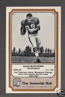 HUGH McELHENNY Minnesota Vikings 1974 Fleer The Immortal Roll Football HOF CARD