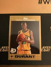 2007-08 Topps Gold #112 Kevin Durant Supersonics RC Rookie /2007 Read