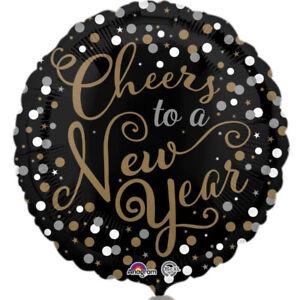 Confetti & Celebration New Year 18 Inch Foil Balloon