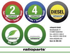 Kraftstoffarten Aufkleberset Kraftstoffsorten Diesel, 2-Takt- und 4-Takt-Gemisch