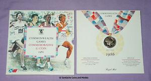 1986 ROYAL MINT SPECIMEN SCOTTISH COMMONWEALTH GAMES £2 COIN - Edinburgh