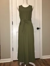 New J Crew Collection Wide-leg Pleated Jumpsuit Green Sz 4 G3178